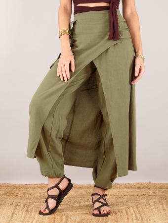 """Sarouel falda \""""Wanda\"""", Verde oliva"""