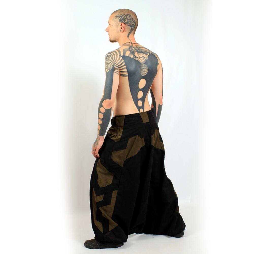 "Sarouel high clothing \\\""fakir\\\"", black-brown"