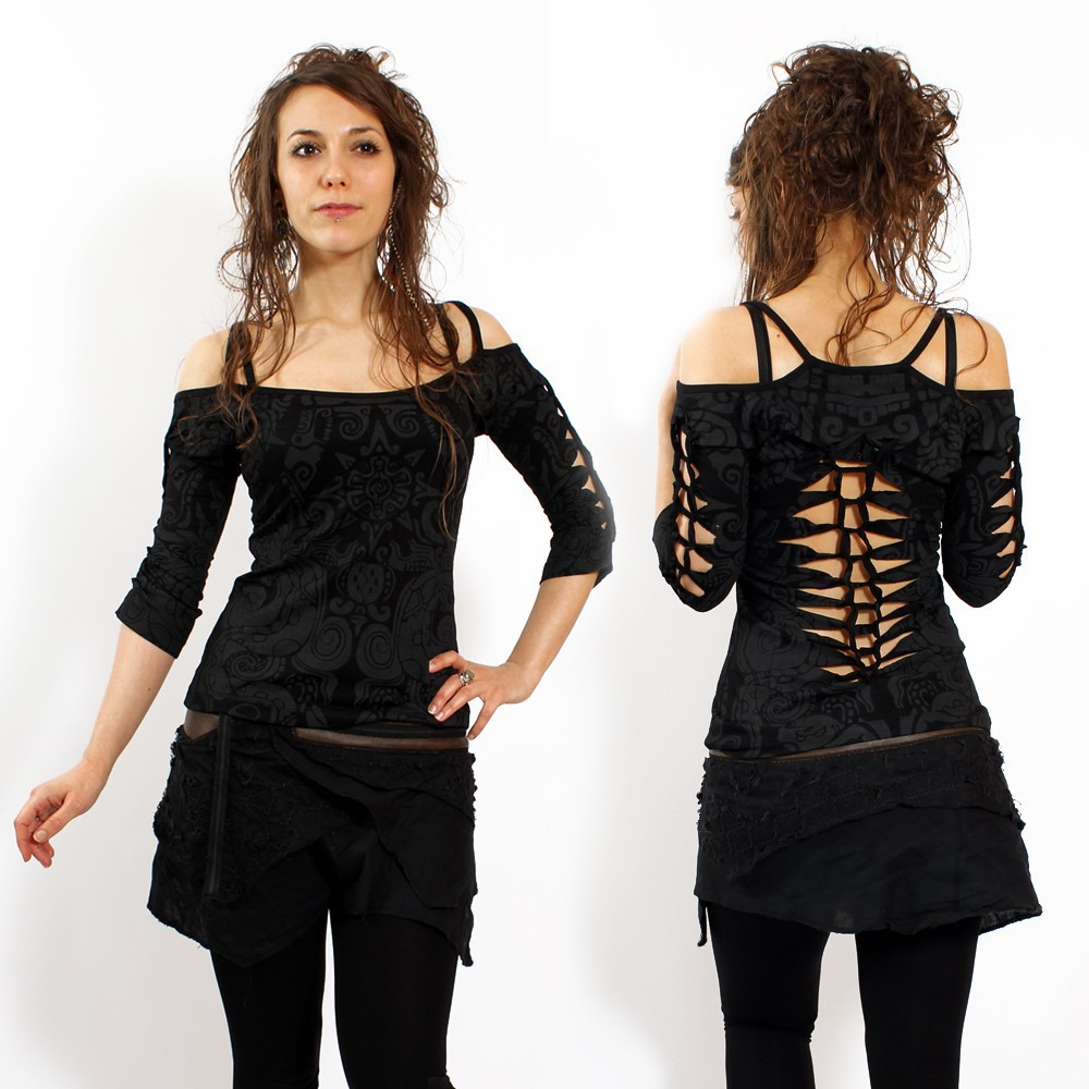 """Sedna Aztek\"" top, Black"