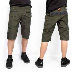 "Shorts \""Shiva\"", Verde caqui oscuro"