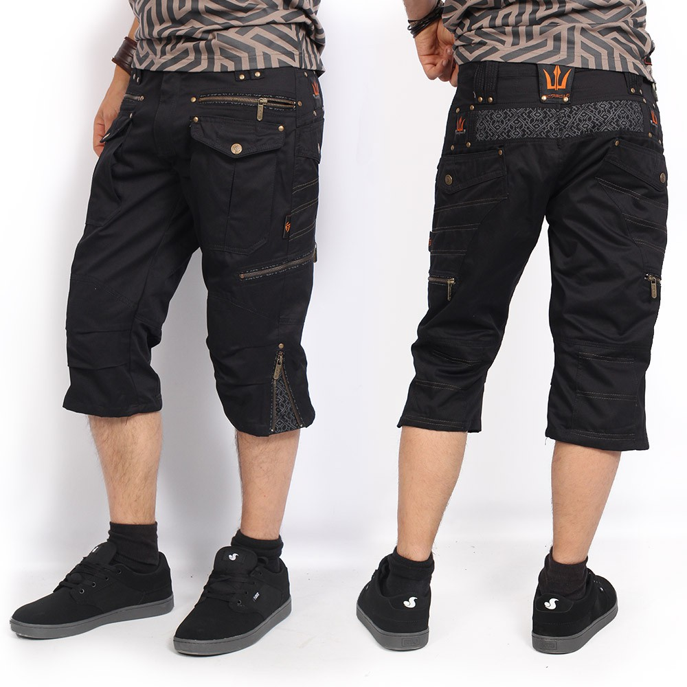 """Shorts \""""Trishul\"""", Negro"""