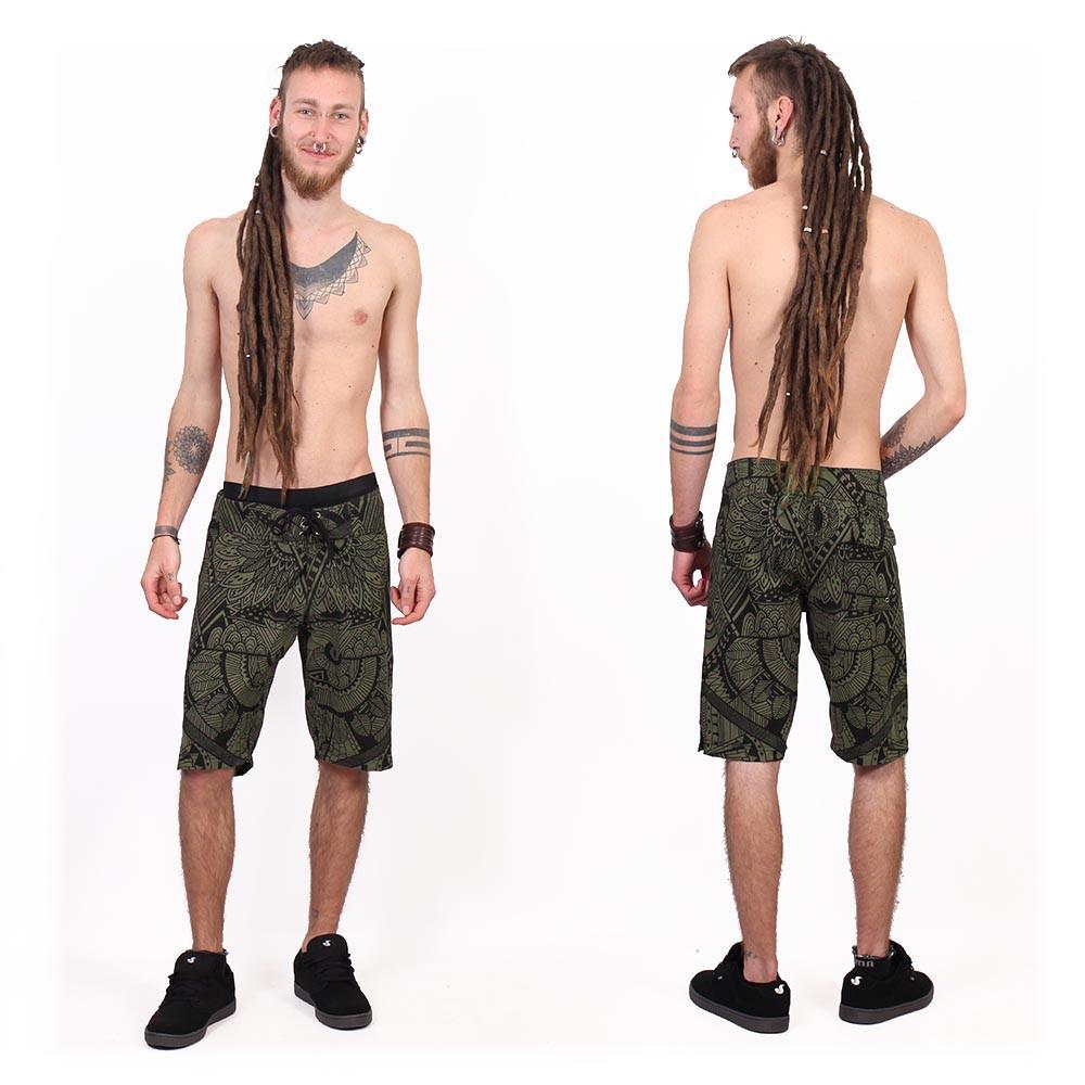 "Shorts de baño \""Kauhoe Africa\"", Verde caqui"