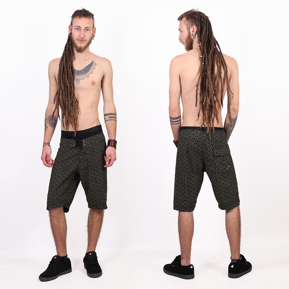 "Shorts de baño \""Kauhoe Kikko\"", Verde caqui"