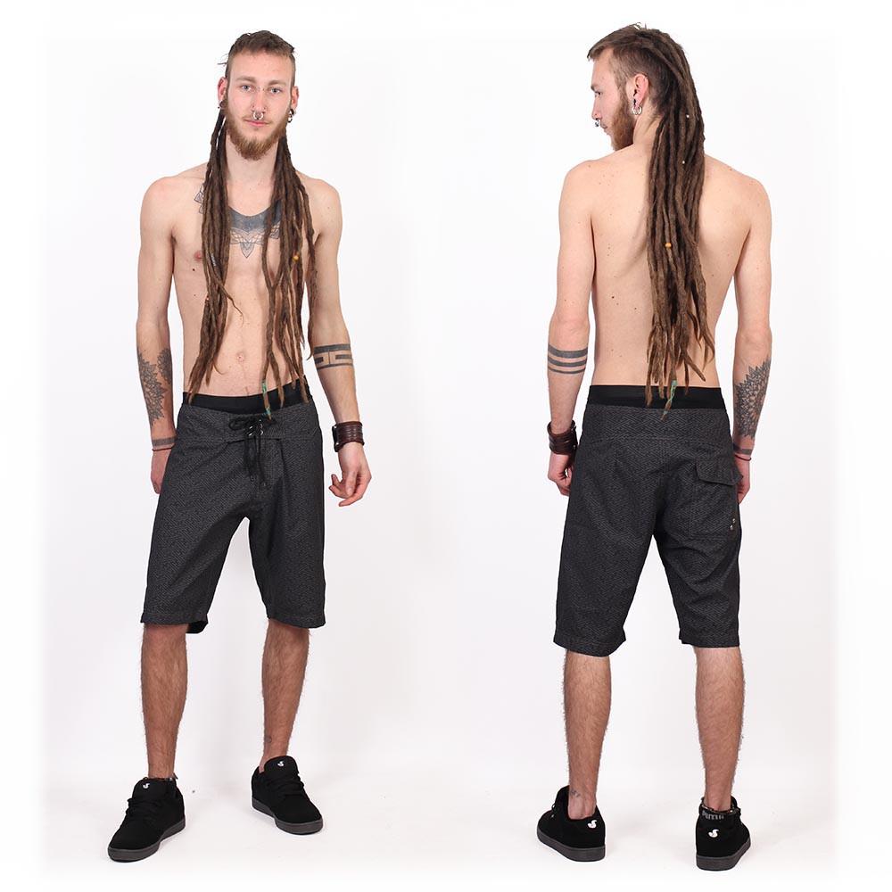 "Shorts de baño \""Kauhoe Swastika\"", Negro"