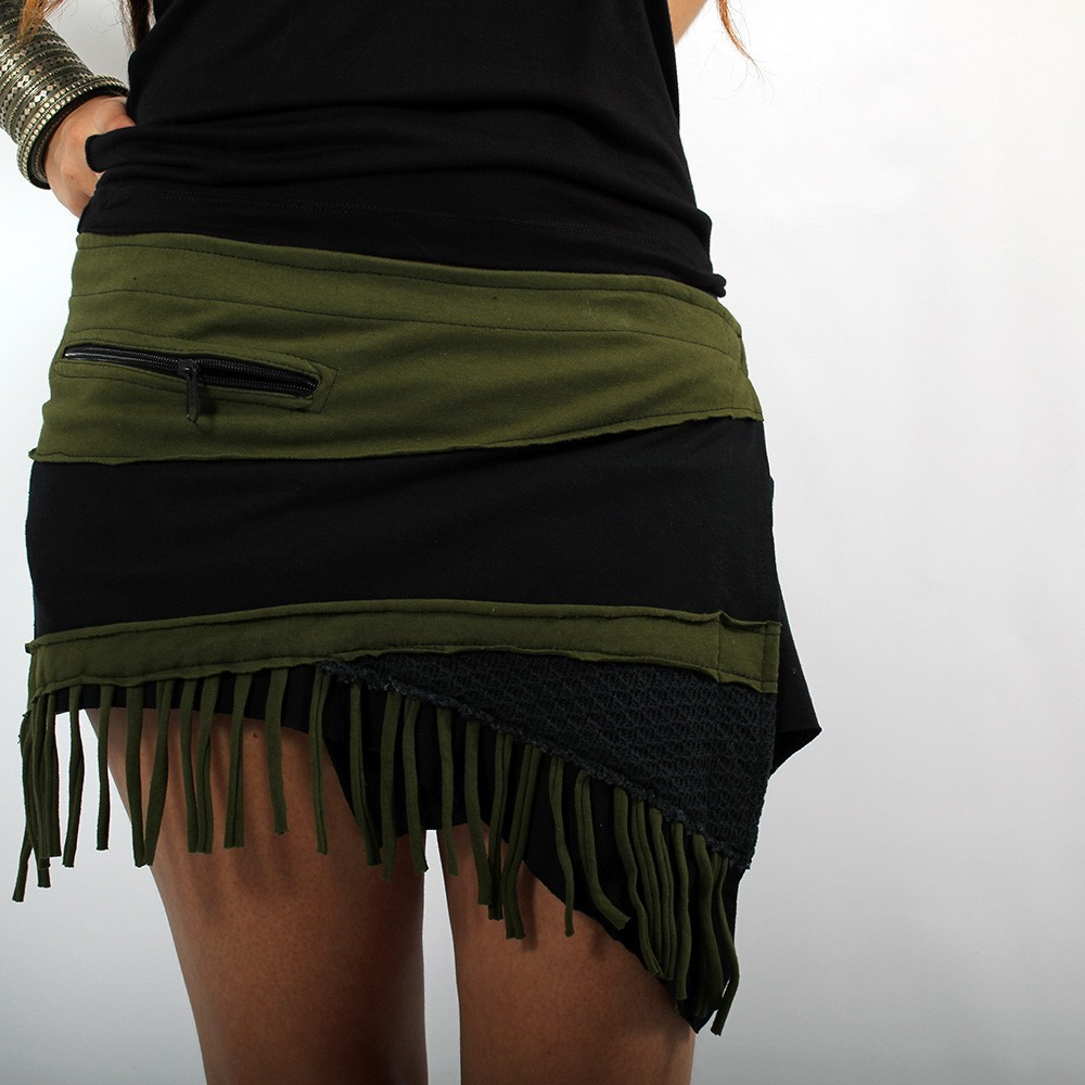 "Skirt ""Azhar\"", Black khaki"