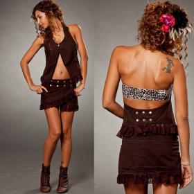 "Skirt \\\""funky wrap\\\"", brown"