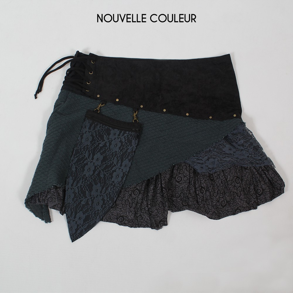 "Skirt ""Multi\"", Black grey"