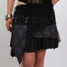 "Skirt \""multi\\\"" black"