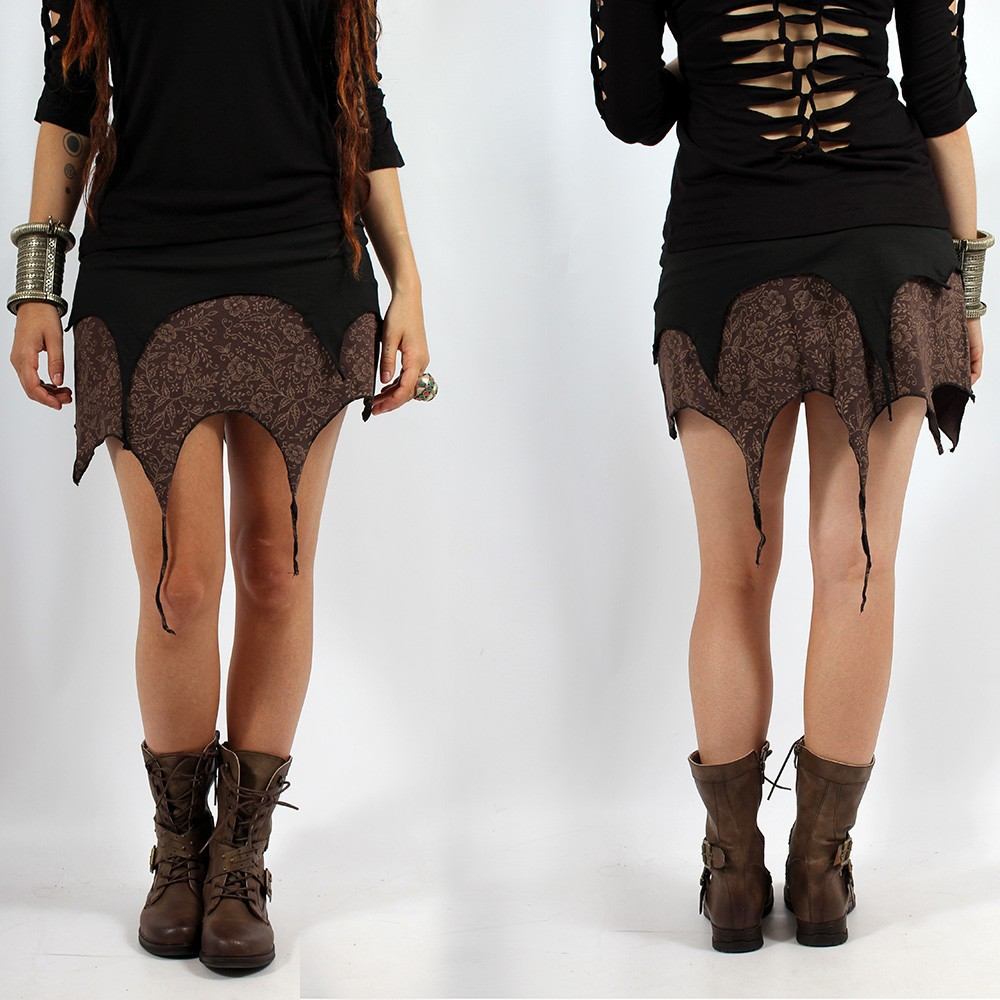 "Skirt ""Sananda\"", Black brown"