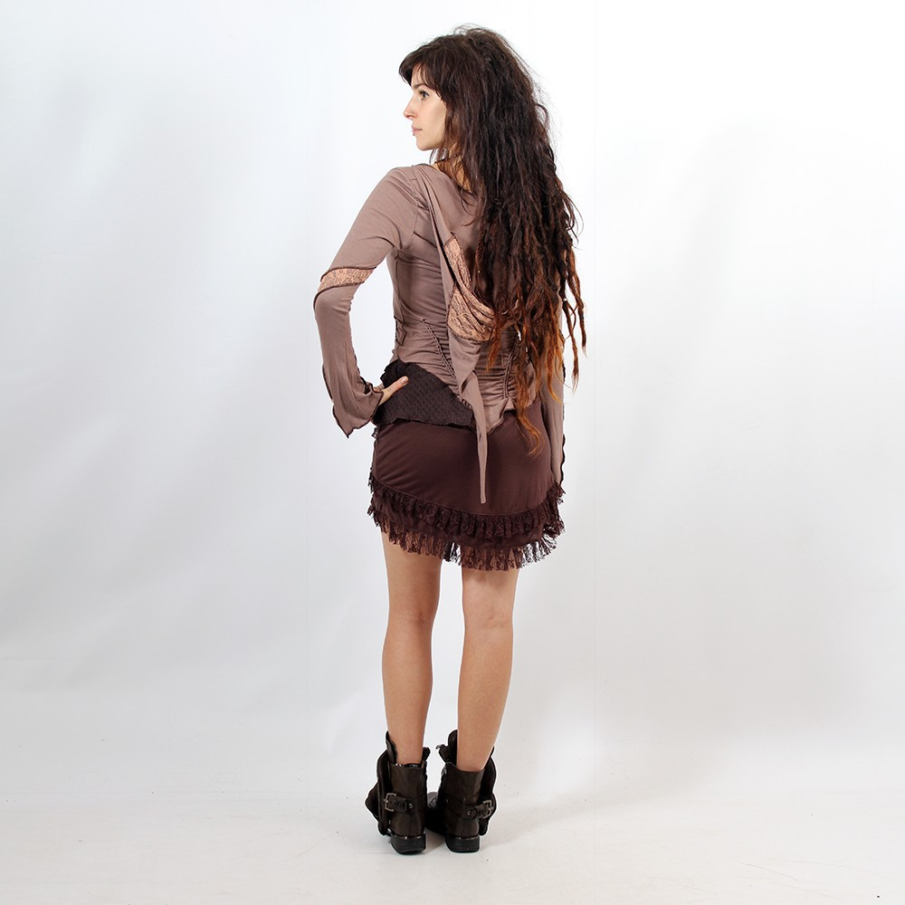 "Skirt ""Soft wrap\"", Brown"