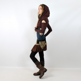 "Skirt Exception \""Chimey\\\"", Black brown beige"