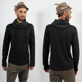 "\""Skull Remix Jumper\"" Psylo Sweater, Black"