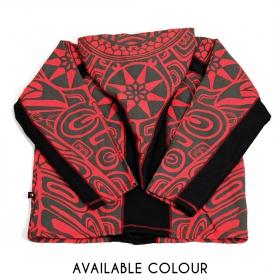 """Sky Haida"" pointy hoodie, Red"