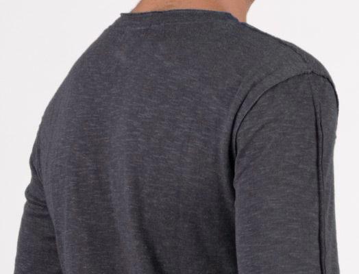 "\""Slub\"" sweater, Charcoal"