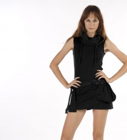 Soba sleeveless dress, black