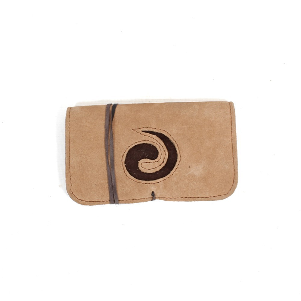 "\""Spiral\\\"" leather tobacco pouch"