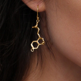 """Spirit and Awakening\"" earrings, DMT molecule"