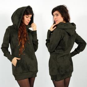 """Sudadera con capucha \""""Lovely Reaper\"""", Verde oliva descolorido"""