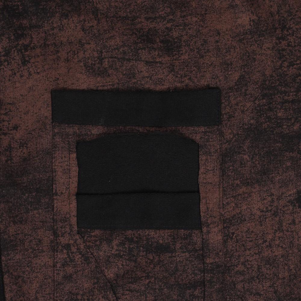 "Sudadera largo asimétrico \""Adjust\"", Negro descolorido óxido"