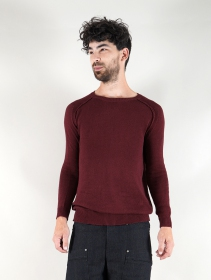 """Suéter de algodón \""""Arga\"""", Burdeos"""