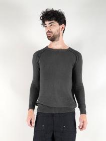 "Suéter de algodón \""Arga\"", Gris oscuro"