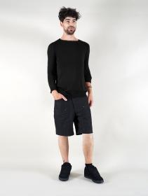 "Suéter de algodón \""Arga\"", Negro"