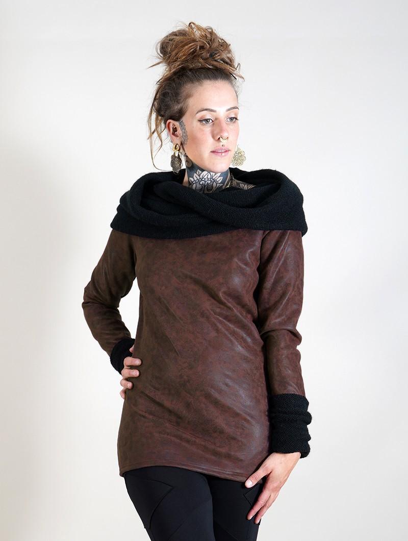 "Suéter de cuero sintético \""Nemöoz\"", Marrón"