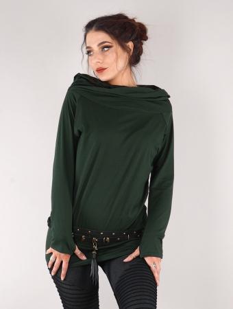 """Suéter de ganchillo \""""Mayäak\"""", Verde pato"""