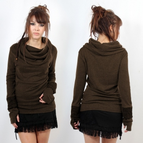 "Sweater top Witch ""Chayan\"", Brown"