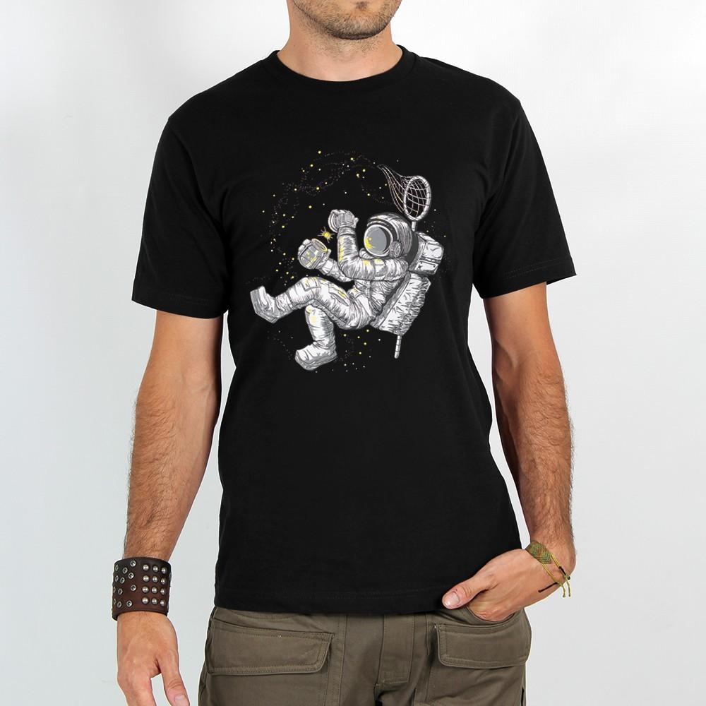"""T-shirt \""""astronaute Étoile luciole\"""", black"""
