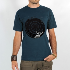 "T-shirt ""astronaute spirale intersidérale\"", dark grey blue"