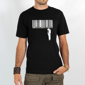 "T-shirt ""code barre suicide\"", black"