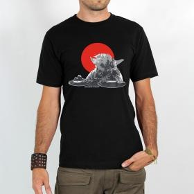 "T-shirt \""dj yoda\"", black"