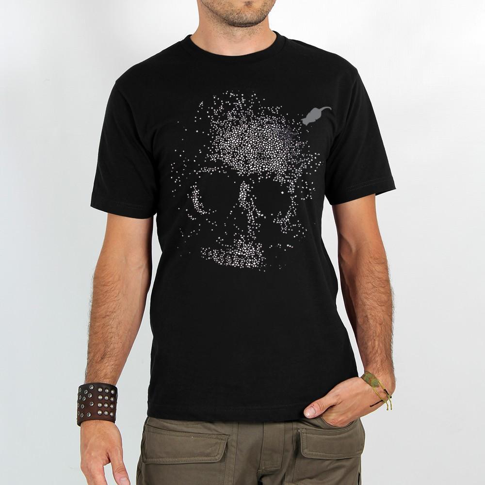 "T-shirt \""dots skull\"", black"