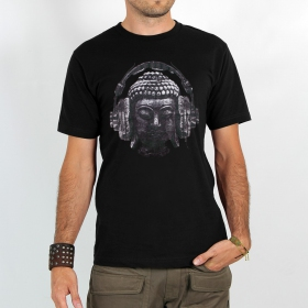 "T-shirt ""headphone bouddha\"""