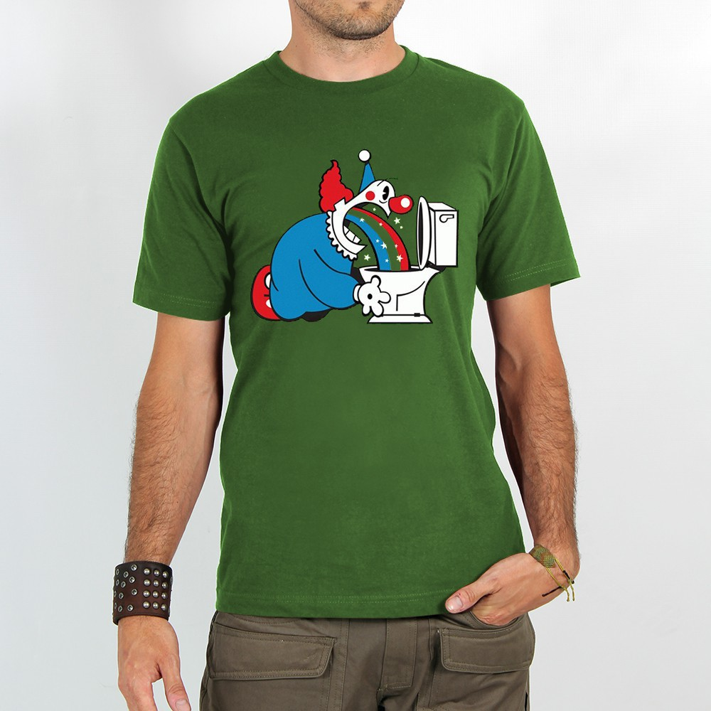 "T-shirt ""magic clown\"", green"