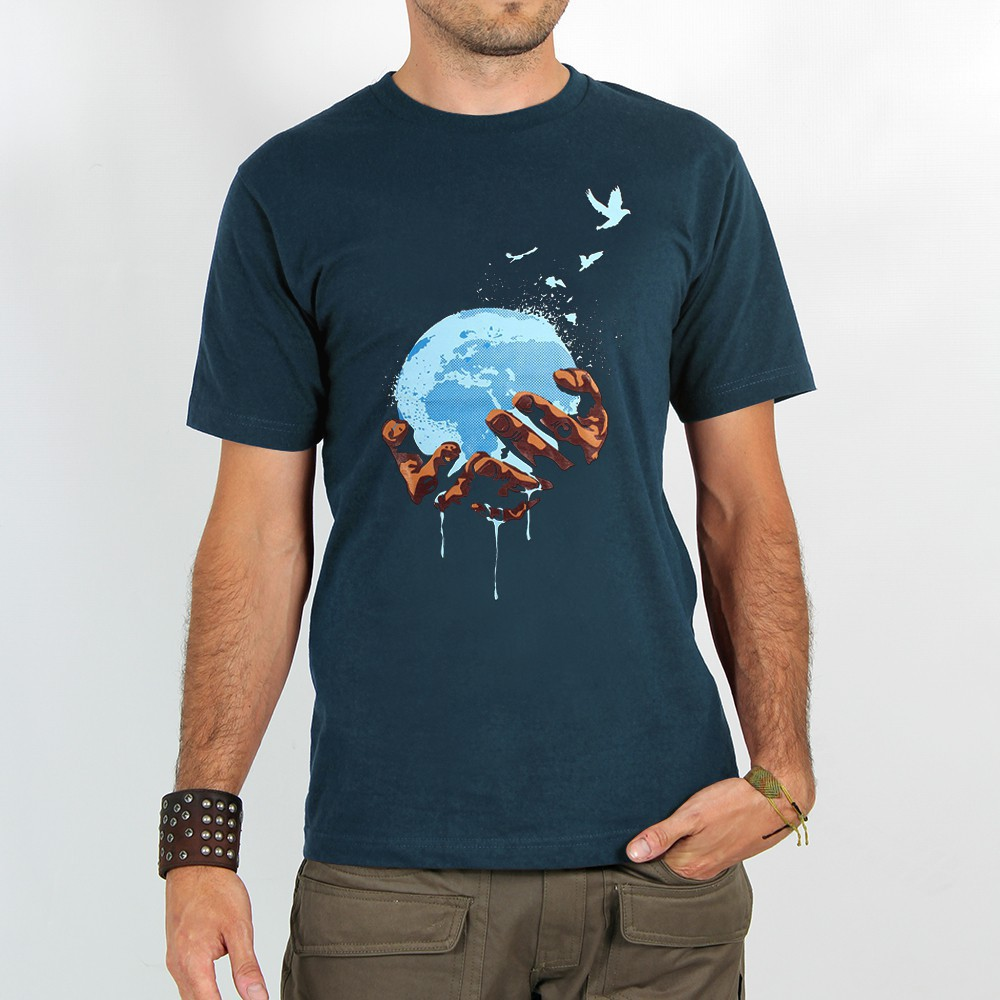 "T-shirt ""planet\"", dark blue"