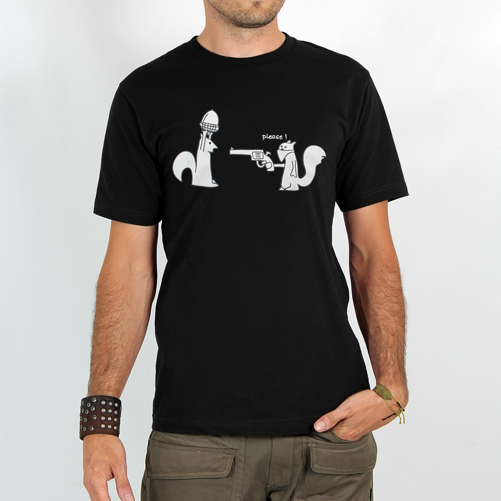 "T-shirt ""squirel braquage\"", black"