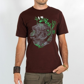 "T-shirt ""tronc spirale\"", brown"