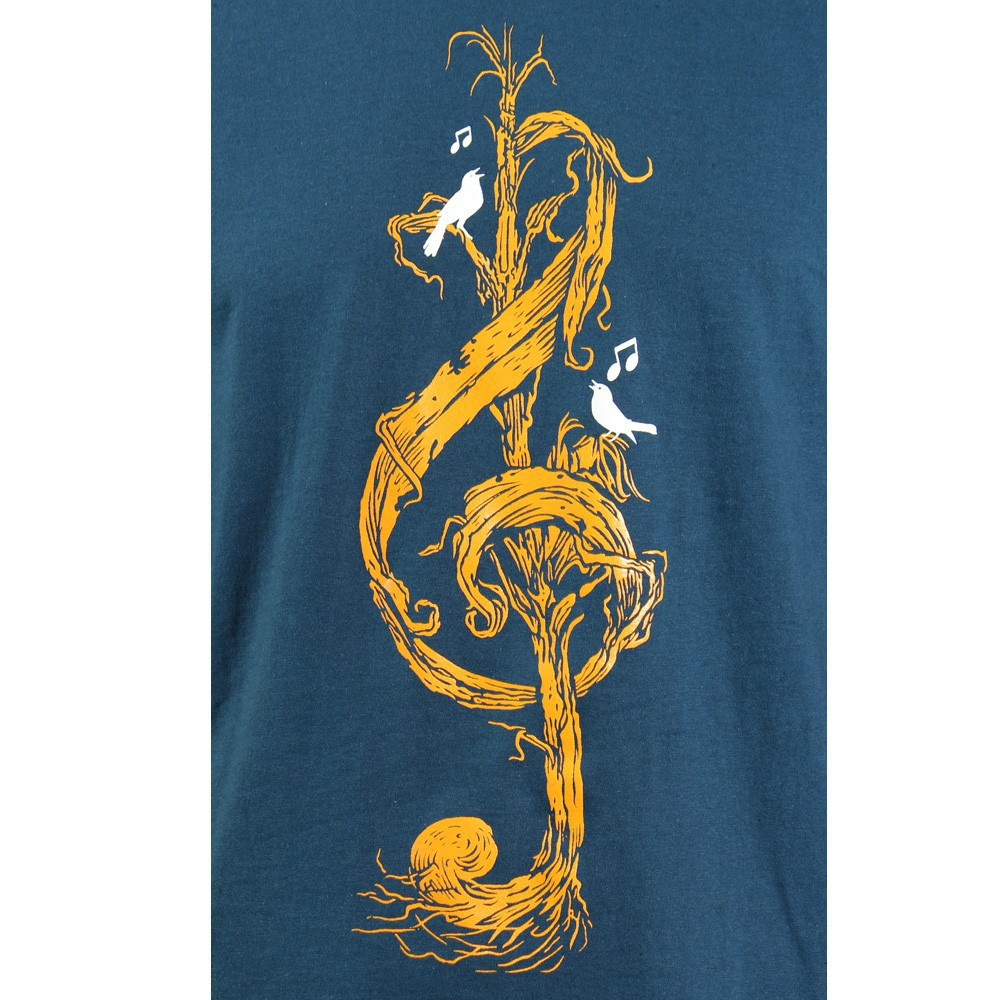 "T-shirt ""vegetal treble clef\"""