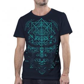 "T-shirt PlazmaLab \\\""Emet\\\"", Dark blue"