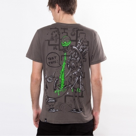 "T-shirt PlazmaLab \""Test this\"", Light Brown"