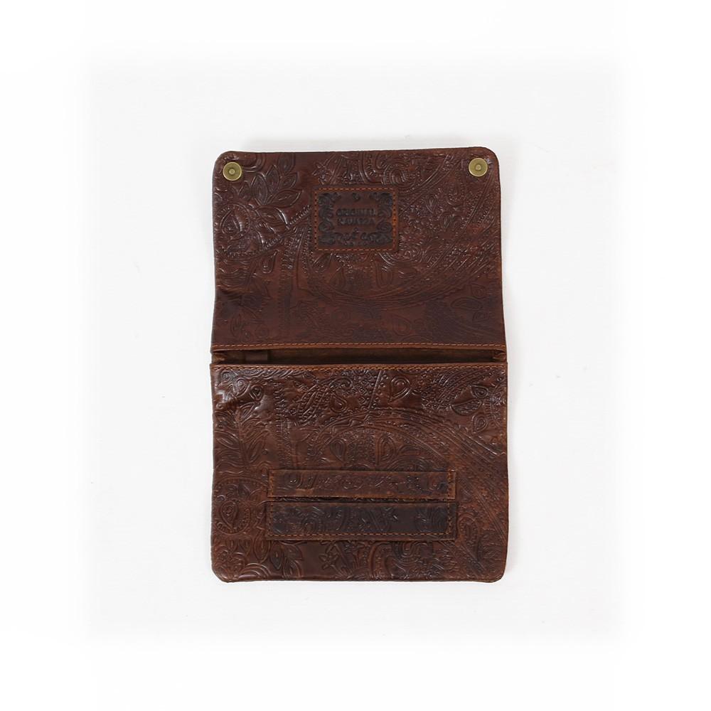 Tabaquera de cuero Kavatza, marrón