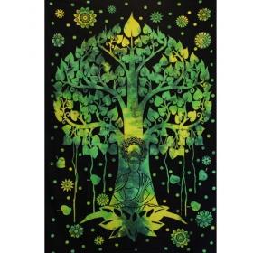 """Tapiz de tela \""""Árbol de Bouddha\"""", Verde y negro"""
