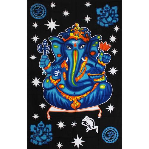 """Tapiz de tela \""""Ganesh Colors\"""", Azul y negro"""