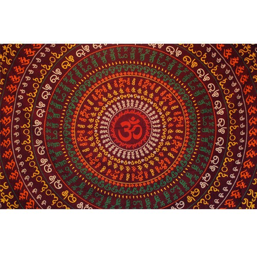 """Tapiz de tela \""""Ohm Circle\"""", rojo"""