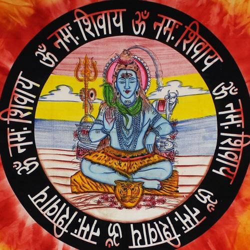 """Tapiz de tela \""""Shiva\"""", Naranja"""