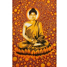 """Tapiz de tela \""""Space Bouddha\"""", Rojo anaranjado"""