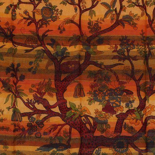 "Tapiz de tela \""Tree of Life\"", Naranja"