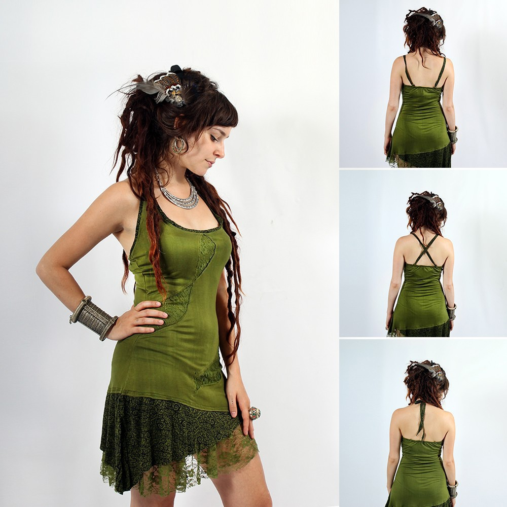 "\""Tarmy\"" dress, Pain black brown"